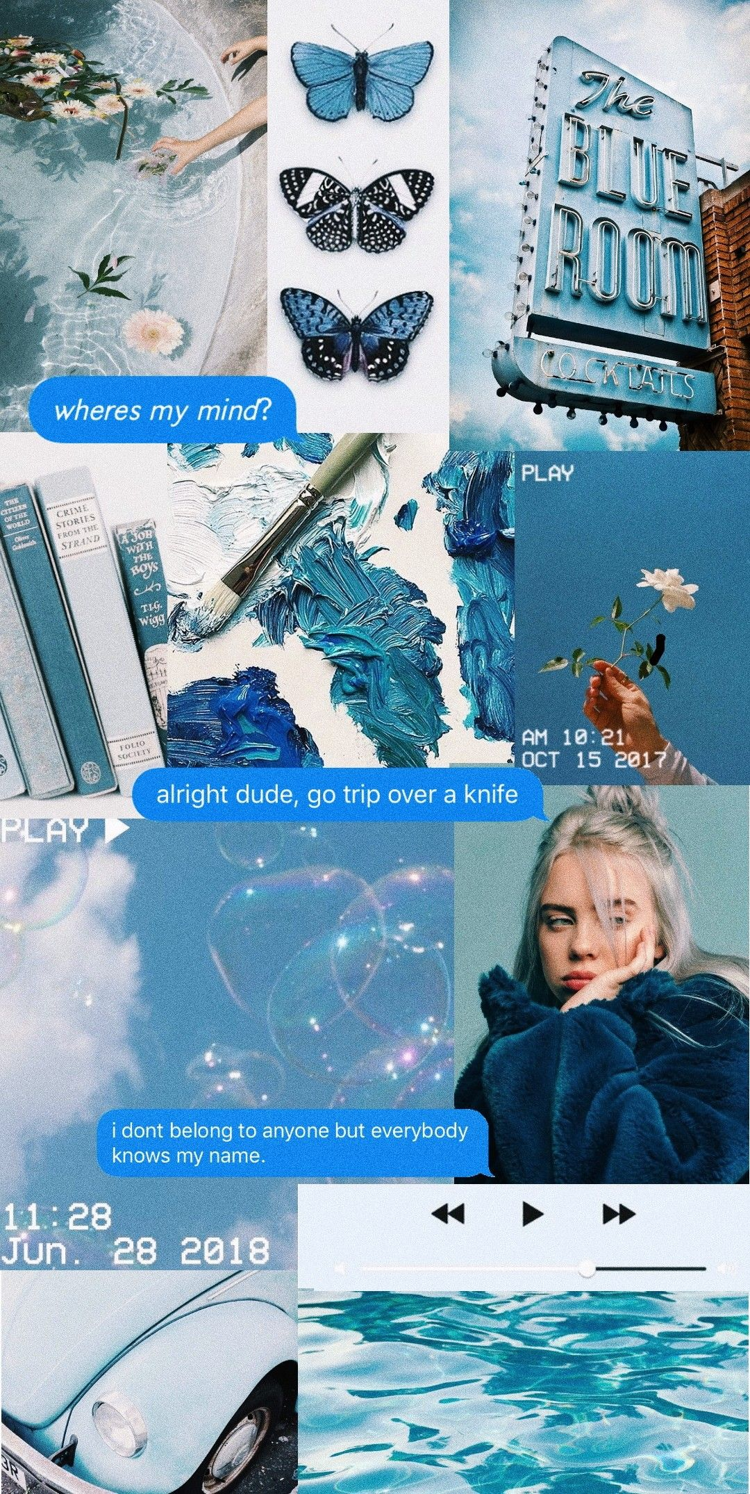 Aesthetic Billie Eilish Blue Wallpaper Blue Wallpaper Iphone