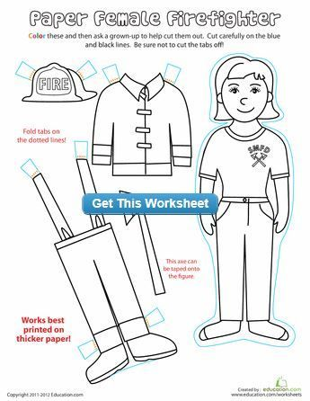 FREE! Career paper dolls and coloring pages. Perfect for Labor Day ...