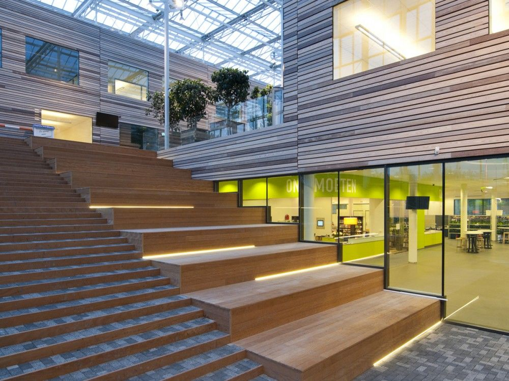 Building within a building love this project cah - Interior design for school buildings ...