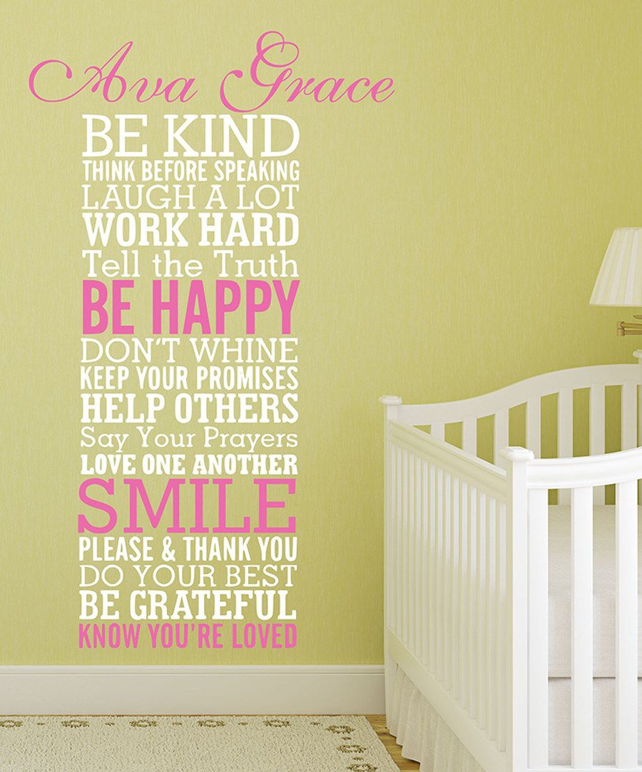 Look at this \'Be Kind\' Personalized Decal on #zulily today!   Jules ...