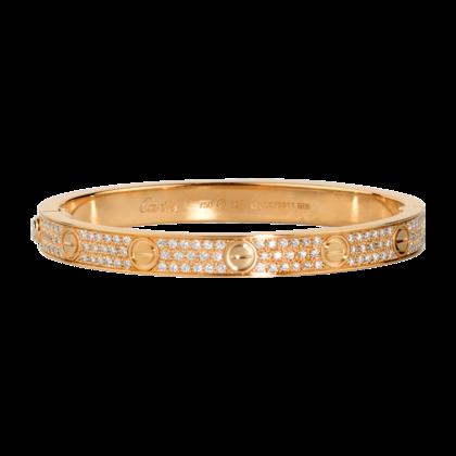 Cartier Love Bracelet Pink Gold Diamonds