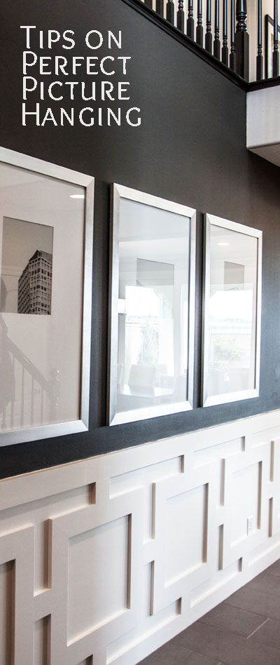 Keys To Perfect Picture Hanging | Hanging pictures, Wainscoting and ...