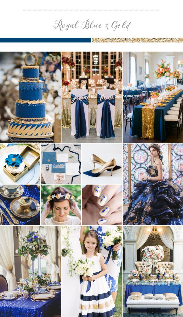 Sophisticated Rich And Elegant Wedding Palette Royal Blue
