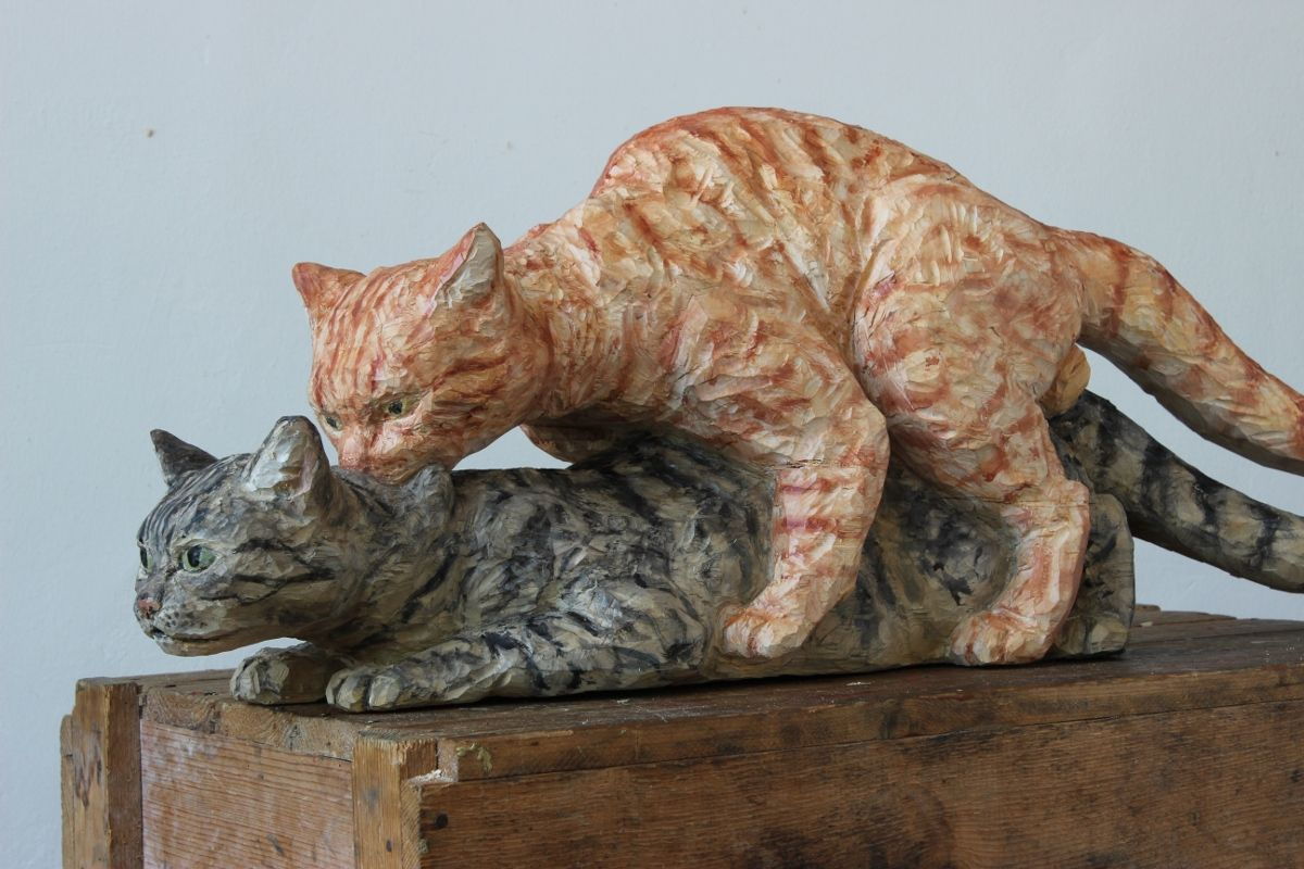 Karin Frank artwork - cat mating
