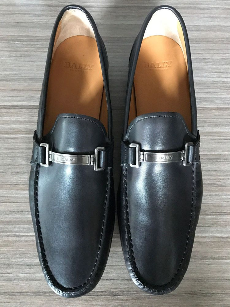 d16e0af262f2 New BALLY SWITZERLAND TECNO BIT LOAFERS BLACK Shoes size 13  525  Bally   LoafersSlipOns