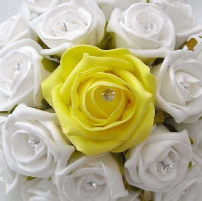 Yellow And White Roses Bouquet