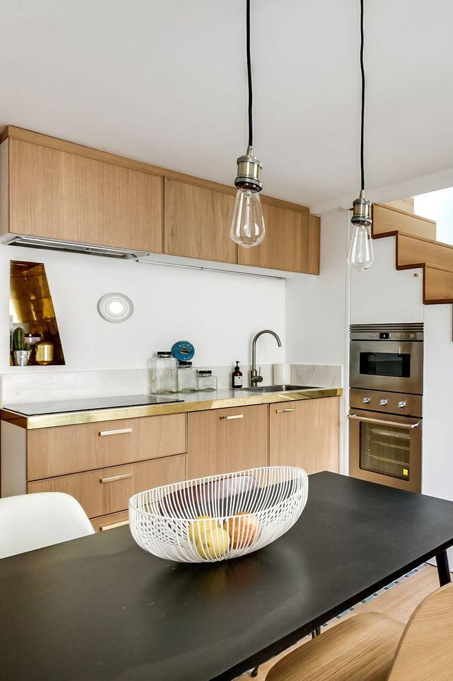Disposer la cuisine en bois sous l\u0027escalier kitchen Pinterest