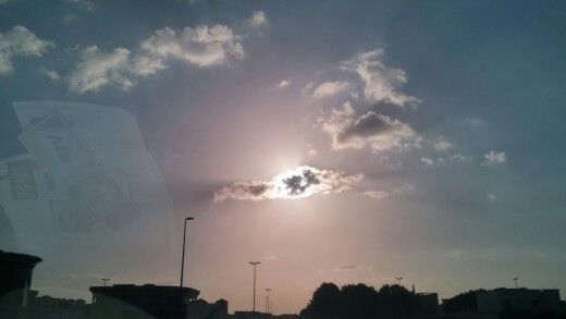 شروق الشمس صباح اليوم ... جميل .. ❤,❤