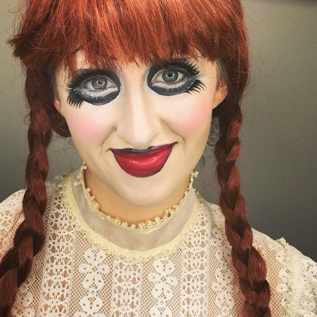 Creepy Doll by nyib esthetics student. Beauty skin