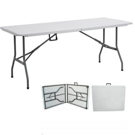Mesa plegable maleta 180 cm - Mesa plegable salon ...