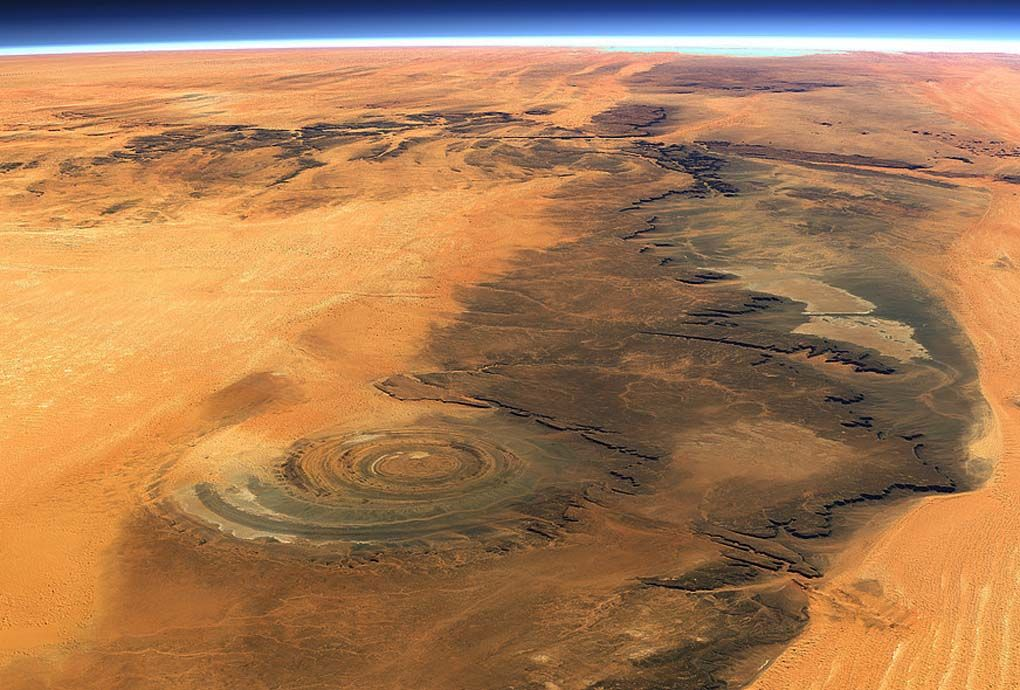 The Eye of the Sahara (Richat Structure), Mauritania