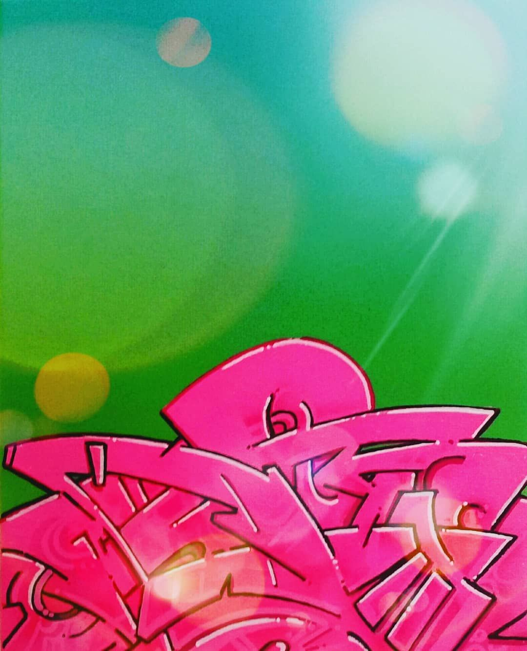 """Simple single alphabet Wild style lettering sketch of """"P"""