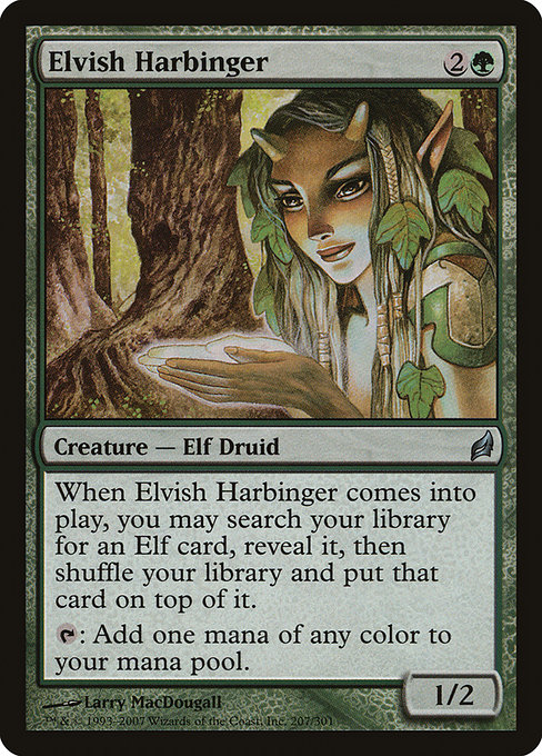 ELVISH ARCHDRUID NM mtg Elves vs Inventors Green Elf Rare