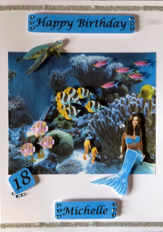 Made by theresa holland card made to order recipient likes aquarium made by theresa holland card made to order recipient likes aquarium sea creatures and cheryl cole so i made cheryl cole into a mermaid bookmarktalkfo Images