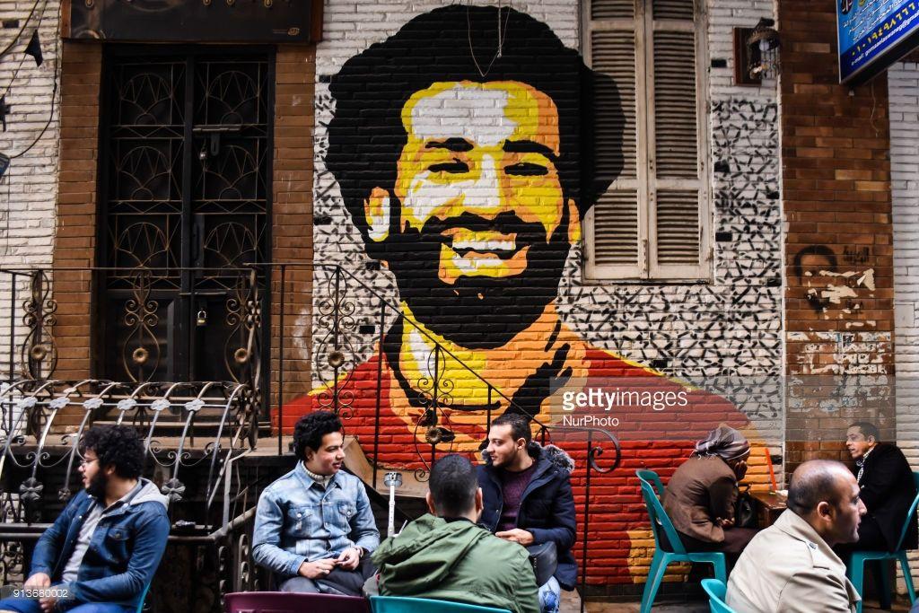 Photo of A graffiti of Mohamed Salah in Cairo