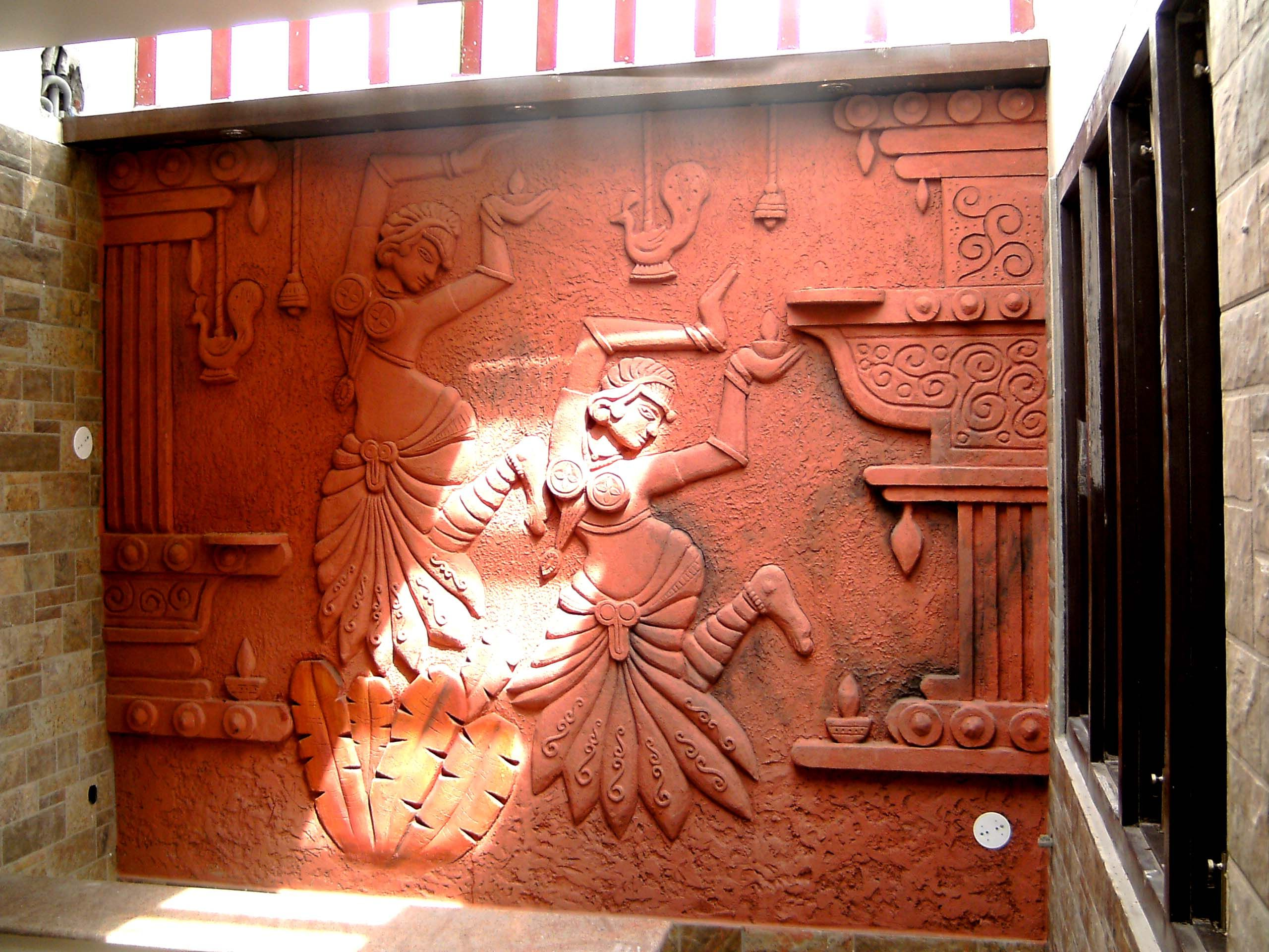Terracotta Wall Relief Mural