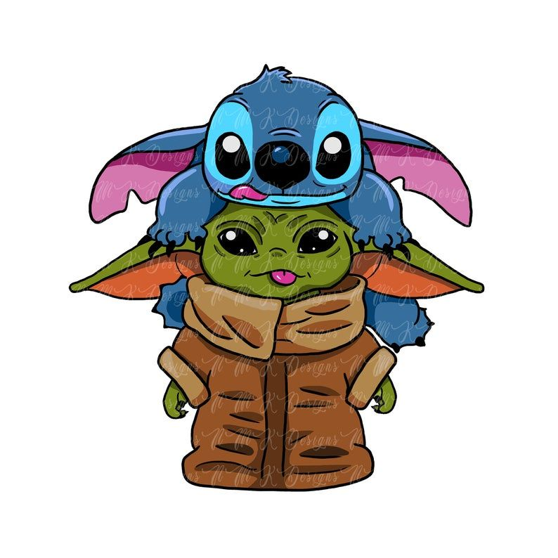 Baby Yoda Stitch Sublimation Designs Png Graphic Design T Etsy Cute Disney Wallpaper Cute Cartoon Wallpapers Yoda Wallpaper