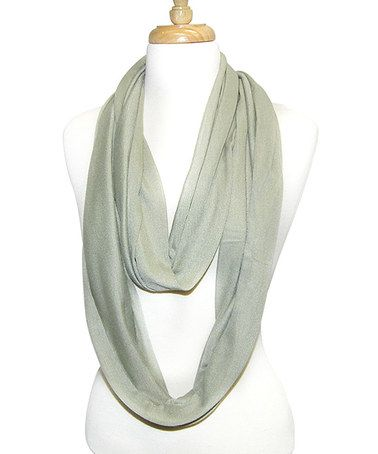 Another great find on #zulily! Gray Infinity Scarf by Tickled Pink #zulilyfinds