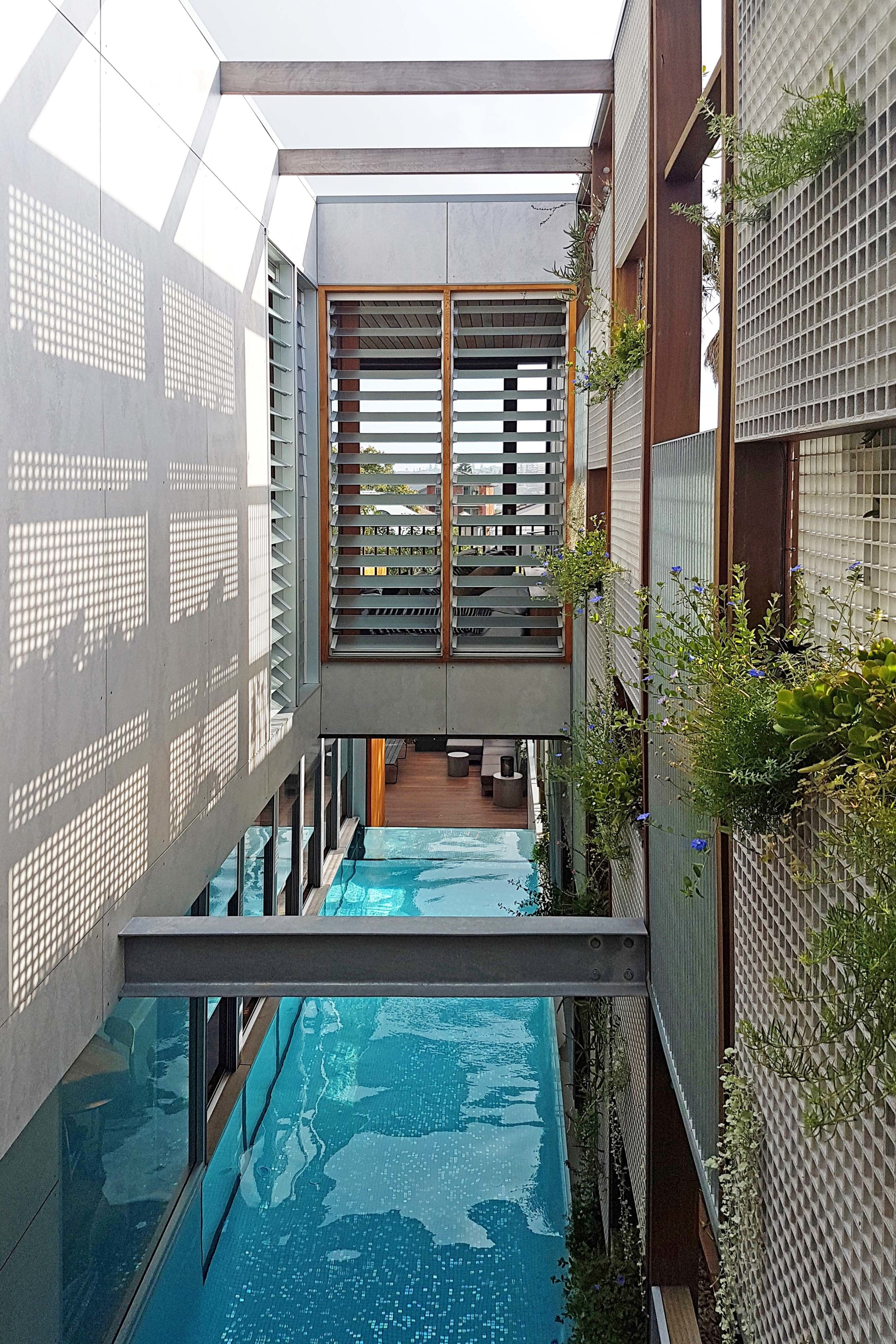 Living Screens Conceal A North Bondi Beach House And A Semi Indoor Pool    Dwell