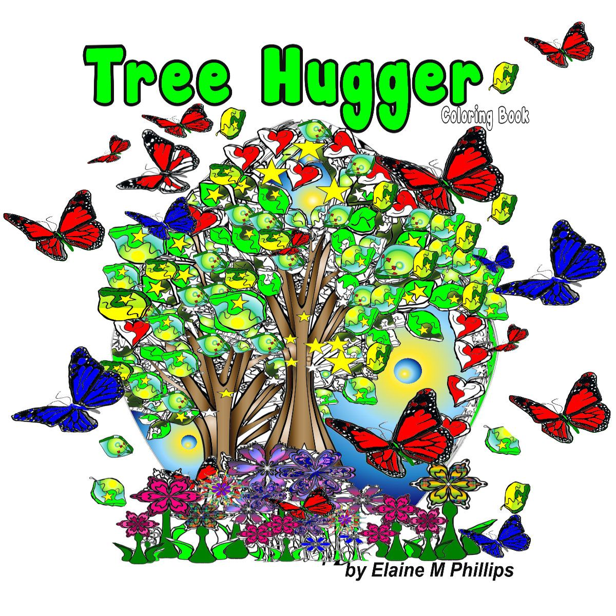 Tree Coloring Book,instant download coloring book, 18 colouring ...