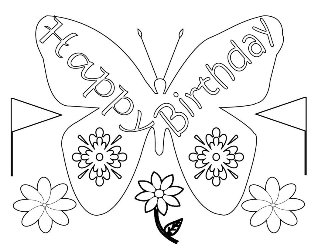 Happy Birthday Coloring Pages For Adults Toddlers Happy