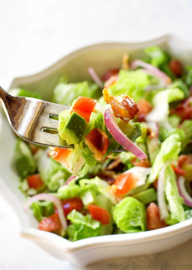 Guacamole Tossed Salad Recipe The Girl Who Ate Everything Recipe Salad Salad Recipes Tossed Salad