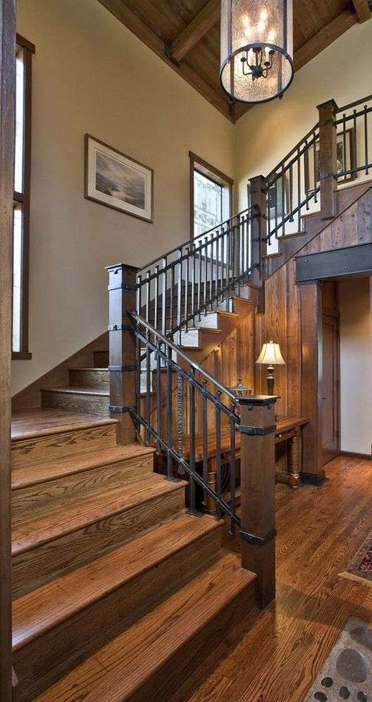 Best Wonderful Rustic Staircase Ideas 7 400 x 300