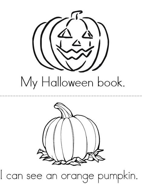 My Halloween Book- Free Mini Books from TwistyNoodle.com
