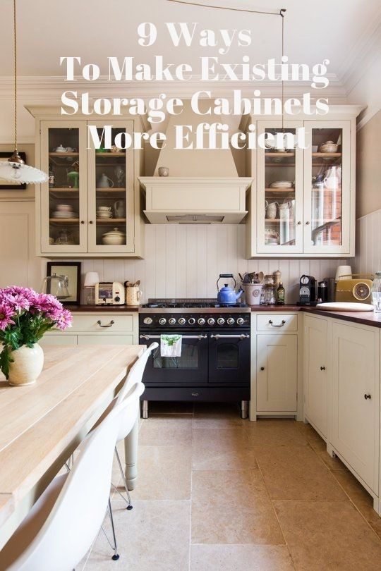9 Ways To Make Your Storage Cabinets More Space Efficient Home
