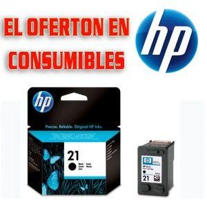 Cartucho de tinta original HP 21 (C9351AE).  Tinta: Negra. Rendimiento: 190 páginas  - El Compas online