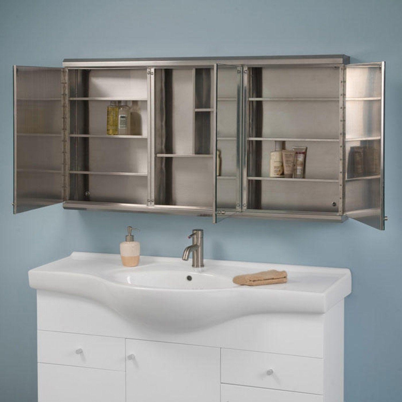48 Medicine Cabinet Cosmopolitan Stainless Steel Triview Medicine Cabinet  48
