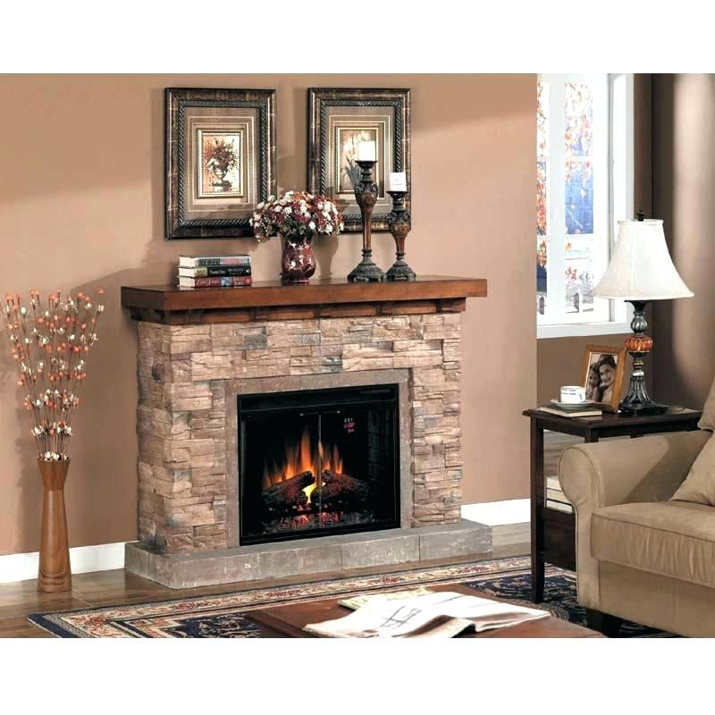 Stone Fireplace With Tv Electric Rock Fireplaces Image Of