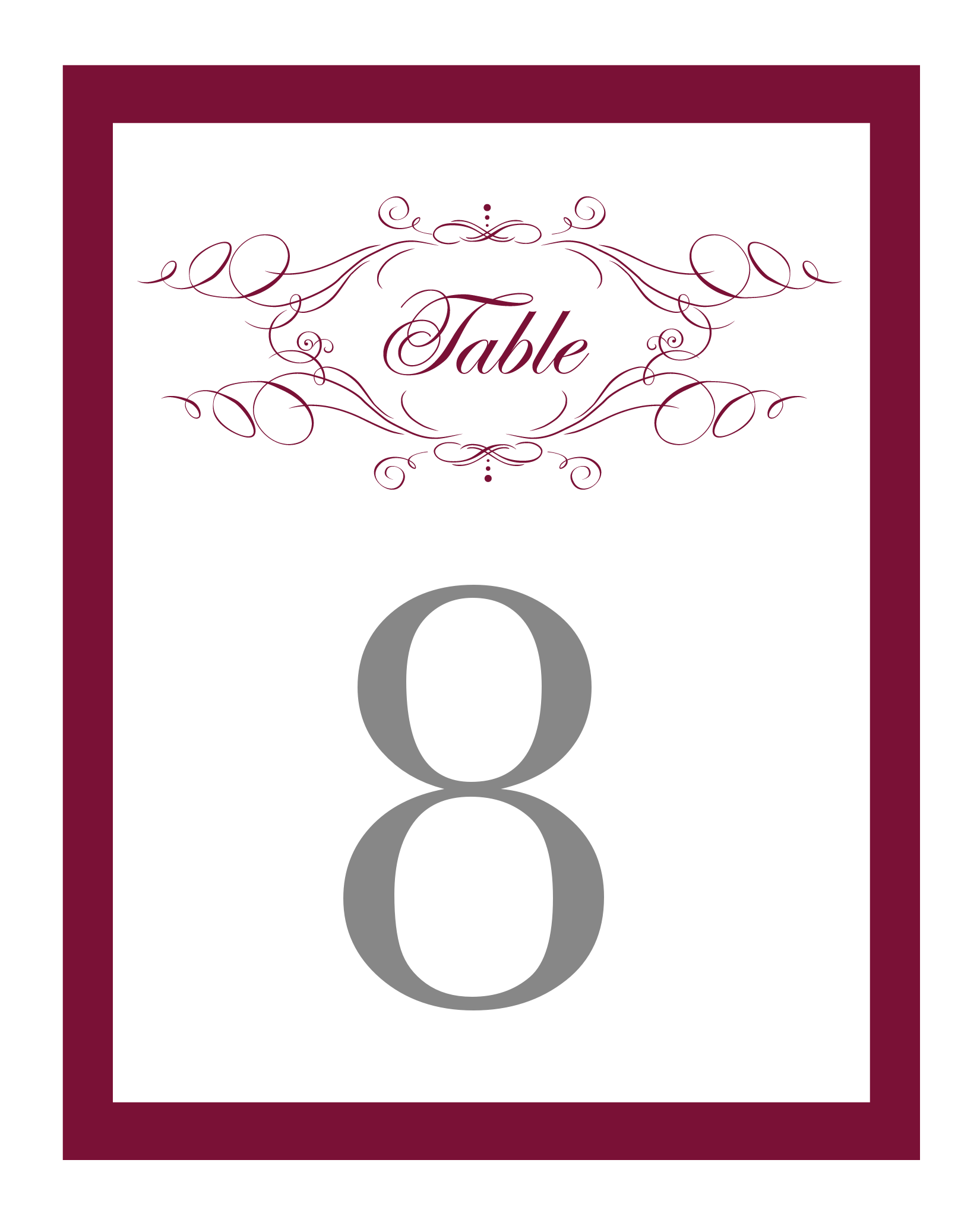 Elegant Monogram Free Printable Wedding Invitations | Table numbers ...