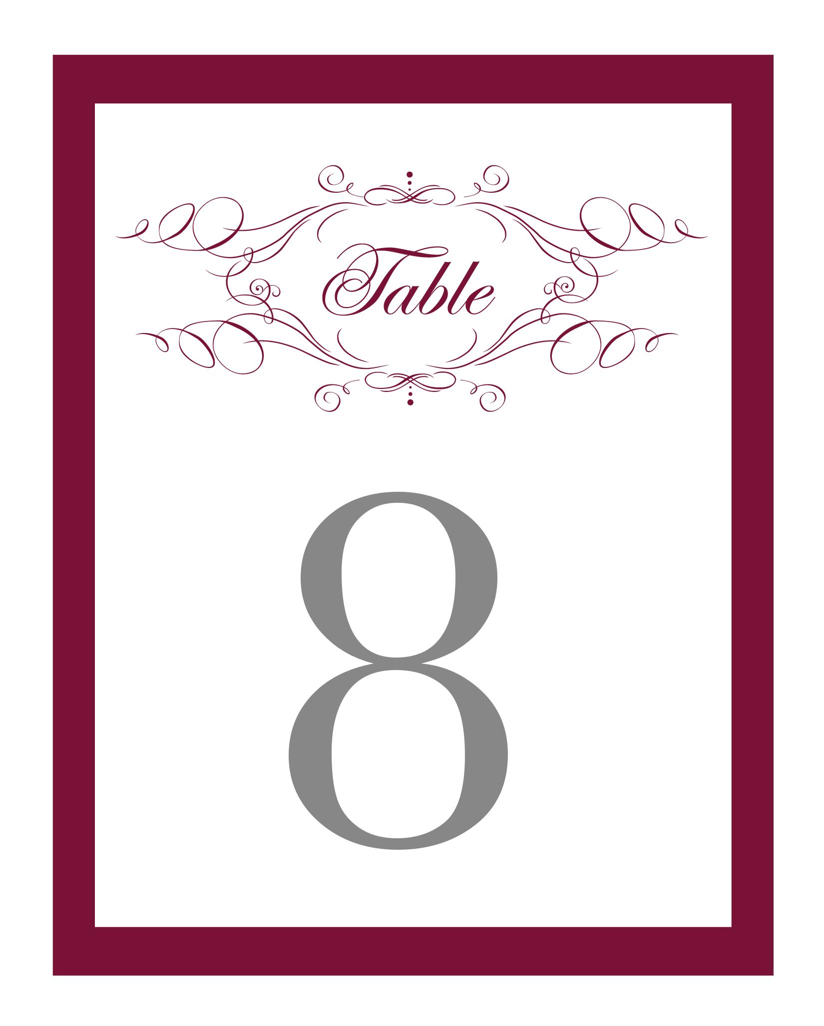 4x6 table tent template - elegant monogram free printable wedding invitations
