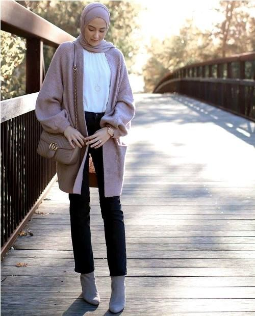 How to dress smart casual in winter with hijab \u2013 Just Trendy Girls