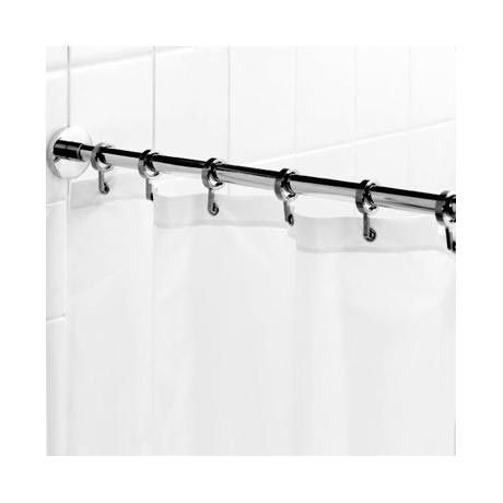 Croydex Contemporary Luxury Chrome Round Shower Curtain Rod