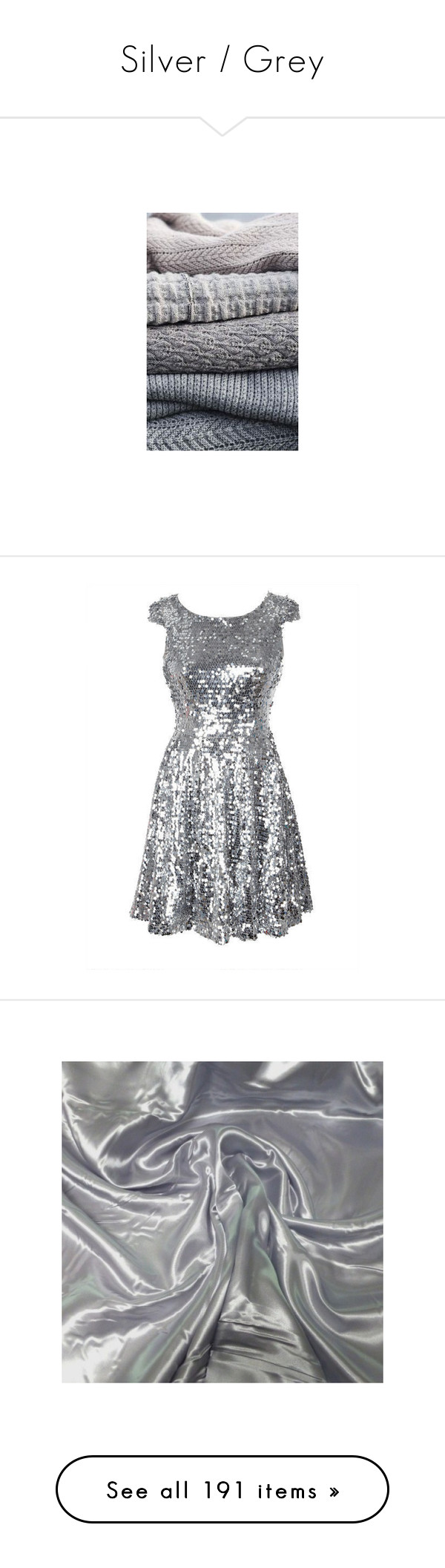 """""""Silver / Grey"""" by liz-wade ❤ liked on Polyvore featuring backgrounds, dresses, silver, sparkles, vestidos, cap sleeve cocktail dress, cap sleeve skater dress, sequin cocktail dresses, zip dress and silver skater dress"""