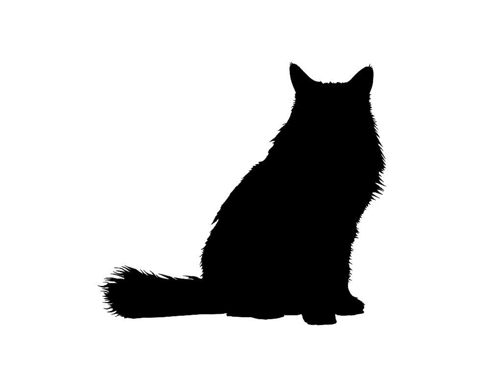 Longhair Cat Silhouette Custom Made Vinyl Decal Sticker 5 X 4 57 28 Color Options Free Combined Cat Silhouette Cat Silhouette Tattoos Black Cat Tattoos