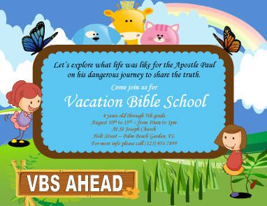 Cartoon vacation bible school flyer template flyer template cartoon vacation bible school flyer template yadclub Image collections