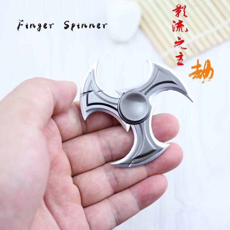 LOL Shadow Master Zed Shuriken High quality Zinc Alloy Rotatable Darts Weapons M