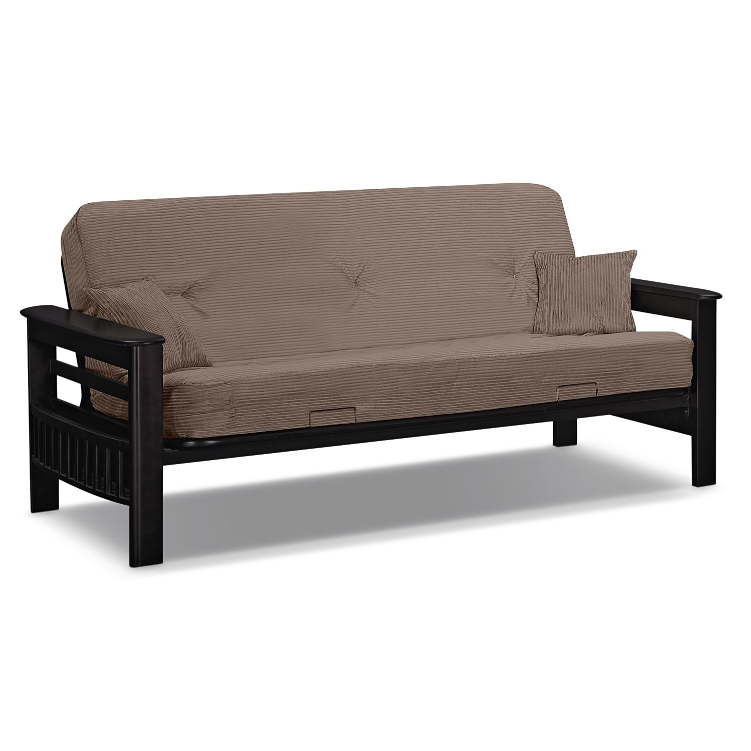 Tampa Futon Sofa Bed Beige Value City Furniture Furniture Futon