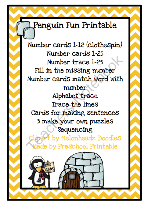 Penguin Fun Printable
