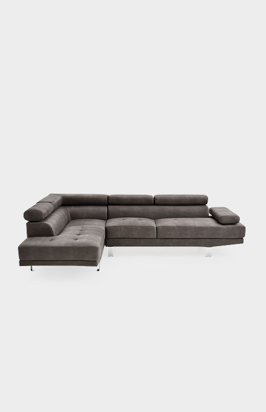 divan sectionnel en tissu gris grey upholstered sectional sofa divansectionnel salon