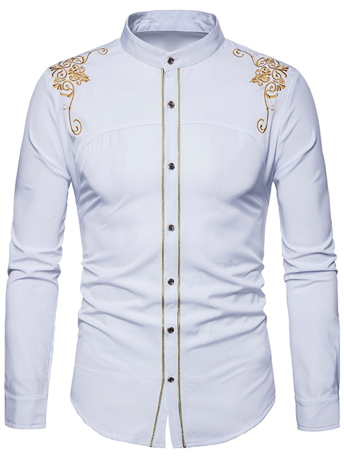 1edc7c5f6 African Attire For Men, Shirt Embroidery, Cheap Shirts, Long Sleeve Shirts,  African