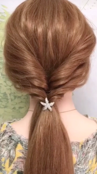 Simple & Quick Long Hair style Video Tutorial Wome