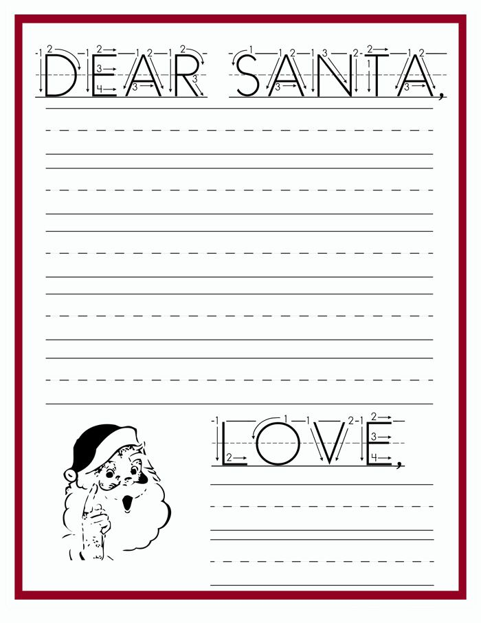 Download this free letter to santa printable so your child