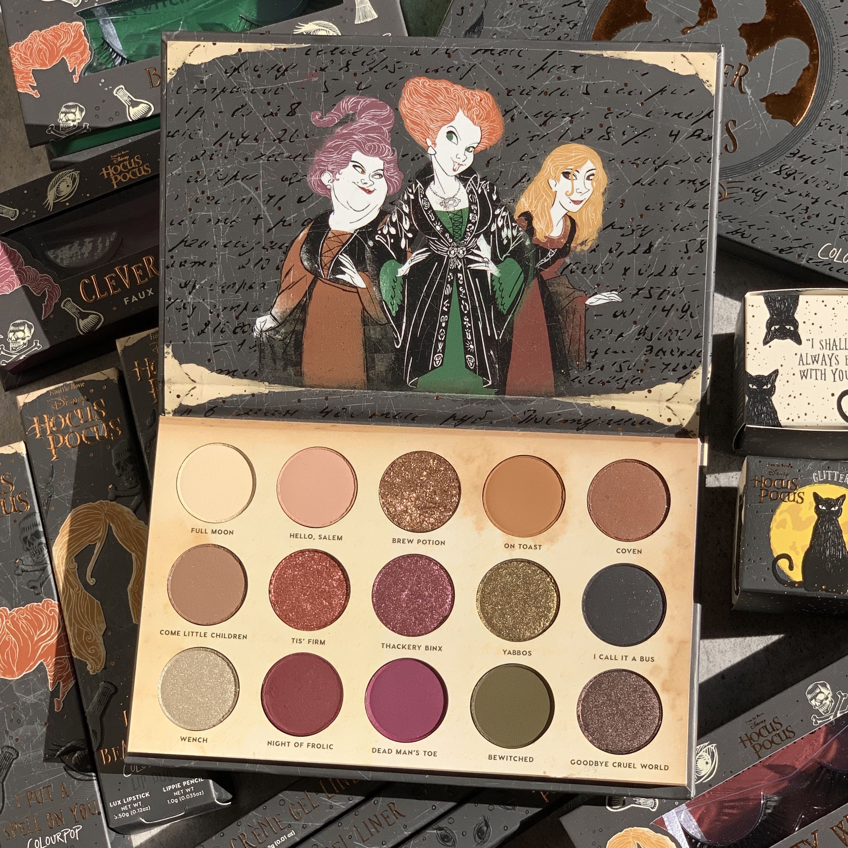 A close up look at the Gather Round Sisters palette 🎃 in