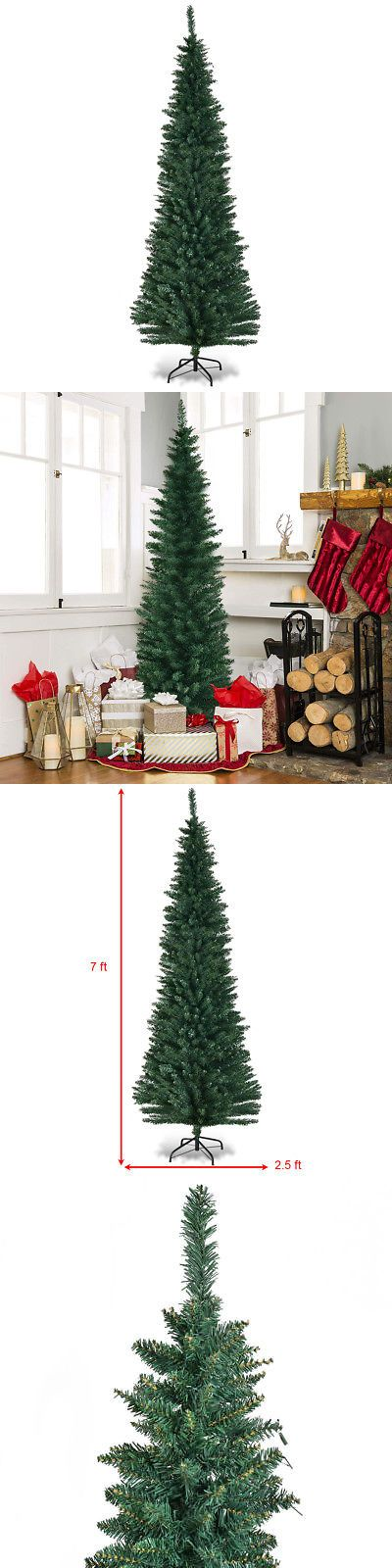 Artificial Christmas Trees 117414 7Ft Pvc Artificial Slim Pencil