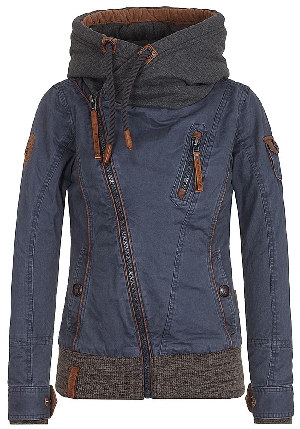 Naketano Walk The Line Jacke für Damen Blau Jetzt