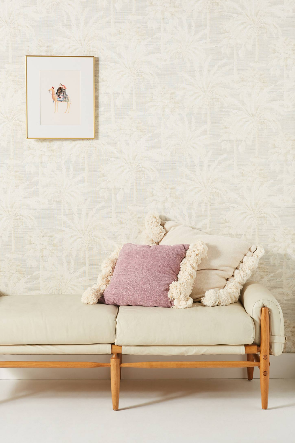 Tree Design Wallpaper Living Room: Dream Of Palm Trees Wallpaper By Anthropologie In Beige